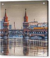 Winter Bridge Acrylic Print by Nathan Wright