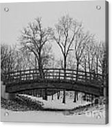 Winter Bridge Acrylic Print