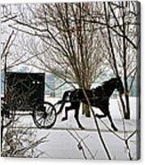 Winter Buggy Acrylic Print