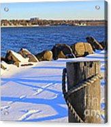 Winter By The Bay Acrylic Print
