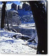 Winter Cathedral Rock Acrylic Print
