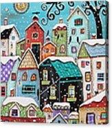 Winter City Acrylic Print
