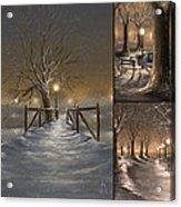 Winter Collage Acrylic Print