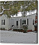 Winter Cottage Acrylic Print