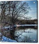 Winter Creek 2 Acrylic Print by Dan Crosby