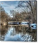 Winter Creek Acrylic Print by Dan Crosby