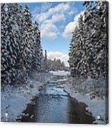 Winter Creek Acrylic Print by Fran Riley