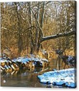 Winter Creek Acrylic Print by Joyce Kimble Smith