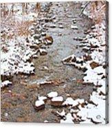 Winter Creek Scenic View Acrylic Print