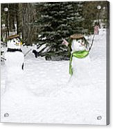 Winter Dance Of The Snow People Acrylic Print