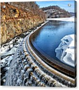 Croton Dam At Winter Acrylic Print