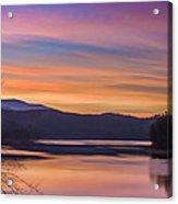 Winter Daybreak At Ocoee Lake Acrylic Print by Paul Herrmann