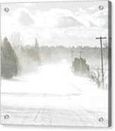 Winter Driving Acrylic Print