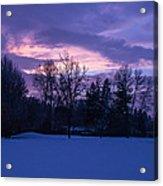 Winter Evening In Grants Pass Acrylic Print