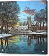 Winter Evening Tickhill Yorkshire Acrylic Print