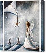 Winter Fairies By Shawna Erback Acrylic Print by Shawna Erback