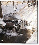 Winter Falls On Big Stone Lake  Acrylic Print