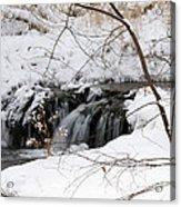 Winter Falls On Big Stone Lake Mn Acrylic Print