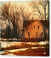 Winter Farhouse Acrylic Print