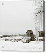 Winter Farm Acrylic Print