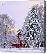 Winter Farm Scene Acrylic Print