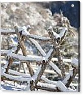 Winter Fence Line  Acrylic Print