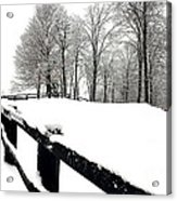 Winter Fence Acrylic Print
