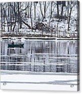 Winter Fishing - Wisconsin River Acrylic Print