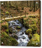 Winter Footbridge Acrylic Print