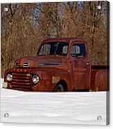 Winter Ford Truck 3 Acrylic Print