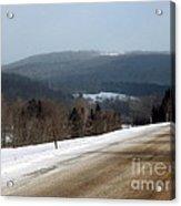 Winter Hillsides Acrylic Print