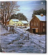 Winter Home and Barn Acrylic Print