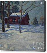 Winter House Acrylic Print