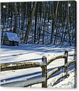 Winter Hut Acrylic Print