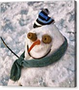 Winter - I'm Ready For My Closeup Acrylic Print by Mike Savad