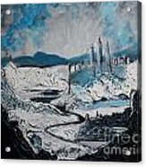 Winter In Ancient Ruins Acrylic Print
