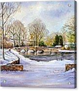 Winter In Ashford Acrylic Print by Andrew Read