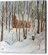 Winter In Campton New Hampshire Acrylic Print