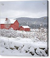 Winter In Connecticut Acrylic Print by Bill Wakeley