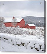 Winter In Connecticut Square Acrylic Print