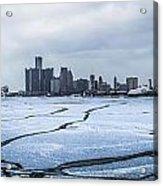 Winter In Detroit  Acrylic Print