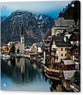 Winter In Hallstatt Acrylic Print