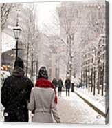 Winter In London Acrylic Print