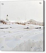 Winter In Ludington Acrylic Print