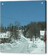 Winter In Maine Acrylic Print