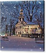 Winter In New England Acrylic Print