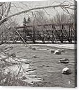 Winter In Pencil Acrylic Print