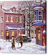 Winter In Soulard Acrylic Print by Edward Farber