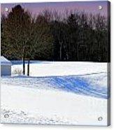 Winter In The Berkshires Acrylic Print