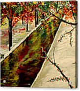 Winter In The Park  Acrylic Print by Mark Moore